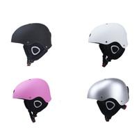 Зимние теплые лыжные шлемы универсальные взрослые и дети регулируемые S M L воздушные потоки снежные шлемы с наушником