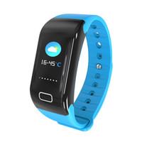سوار ذكي معصمه ضغط الدم الدم الأكسجين القلب رصد معدل الساعات الذكية عداد الخطى الرياضة smartwatch ل ios الروبوت