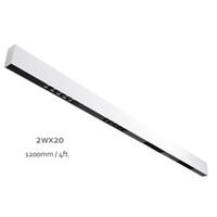 120cm branco pintado acabamento 40w anti-brilho Linear LED bar pingente lâmpada de sala de jantar lâmpada de teto 1-10V