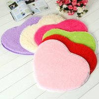 Pure heart- shaped thick bathroom carpet for living room Anti...