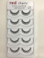 2018 cerise rouge faux cils 5 paires / pack 8 styles naturel long maquillage professionnel grands yeux de haute qualité 500