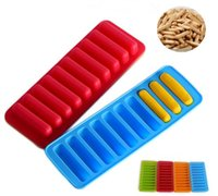 Vintage Silicone Chocolate Molds 10 Holes Finger Ice Tray Ca...