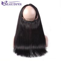 Beaudiva 머리 360 전체 레이스 정면 8a 버진 Peruvain 스트레이트 헤어 360 레이스 정면 클로저 10-20 인치 무료 부품 백퍼센트 인간의 머리카락 도매