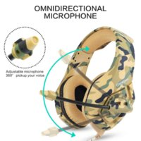 Camouflage army green Noise canceling gaming headphones for ...