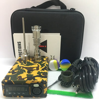 Schädel Holzfarbe E Nagel Kit Elektroschläger Enail PID TC Steuerbox E Quarz Titanium Nägel Vergaserdeckel mit 20mm Heizregister