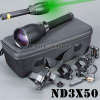 Lasergenetik ND3 X50 ND50 Långdistans Grön Laser Designator w / Justerbart utrymme för jakt