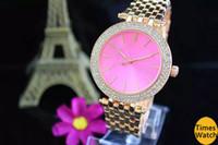 2018 تصميم فاخر روز الذهب امرأة الماس الساعات السيدات فساتين أنيقة الصلب حزام للطي مشبك الكريستال ساعة اليد الهدايا للبنات