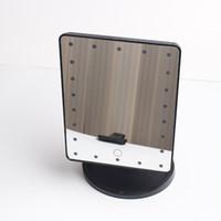 الصمام شاشة تعمل باللمس ماكياج مرآة الغرور مرآة المهنية مع 16/22 أضواء LED قابل للتعديل كونترتوب 180 أداة المكياج الدورية