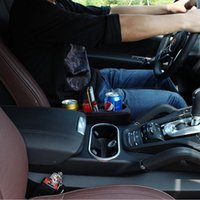 عالمي مقعد سيارة حامل الكأس القمامة يمكن تخزين مربع سيارة الشراب حامل الهاتف حامل الهاتف حامل بو الجلود تستيفها