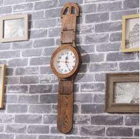 Retro- Sprung-Sekunden-Chip-Uhrwanduhr-Uhrstudiendecken-Wohnzimmerdekoration des hölzernen Musters Umweltschutz