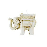 Feis Groothandel Woondecoratie Handgemaakte Kleine Thee Lichthars Elephant Candle Holder Matching Cup Candle Lucky Wedding Gunsten