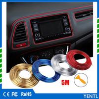 Free Yentl marca auto carstyling carro estilo 5m diy universal automóvel carro motor interior decoração exterior adesivo