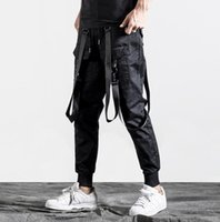 Hiphop ribbon personality fashion mens pants harem pant men ...
