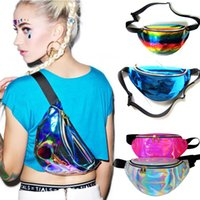 Fanny Pack Waist Bag PU Laser Purse One Shoulder Hip Bag Pun...