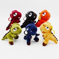 """Dinosaurier Gefüllte Tiere Spielzeug 4 """"Kawaii Plüsch Tyrannosaurier Ornamente Dinosaurier Schlüsselanhänger Puppen Bagpack Anhänger Niedlichen kleinen Monster Kinder Spielzeug"""