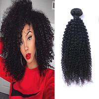 Brasilianisches jungfristiges menschliches Haar verworrene lockige unverarbeitete remy haare webt doppelte FEFTS 100G / Bündel Haarfeste