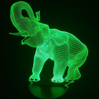Amazing 3D Illusion LED Table Lamp Night Light with Animal E...