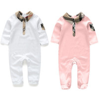Newborn Baby Plaid pattern Rompers Cotton Short sleeve Baby ...