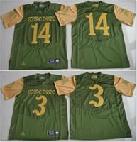 2d389399d Notre Dame Fighting Irish Mens  3 Joe Montana 14 DeShone Kizer College  Vintage American Football Sports Jerseys Cheap Stitched Embroidery