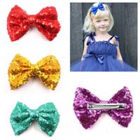 4 enfants de pouce hairbow, bébé fille Bows cheveux avec épingle à cheveux pour enfants clip Accessoires cheveux pince à cheveux 15color
