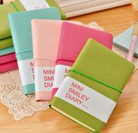 Papel de couro Notepad Doces Cores escrita Caderno de Rosto Sorridente Expressão Notebooks Diário de viagem Mini diário Estudantes presente Notepads