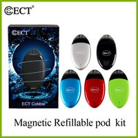 100% original ECT Cobble magnetic refillable vape mod pod ki...