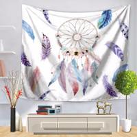 Romantik Dreamcatcher Goblenler Duvar Asılı Rüya Güzel Renkli Duvar Halı Tüyler Dekoratif Goblen 150 cm * 130 cm
