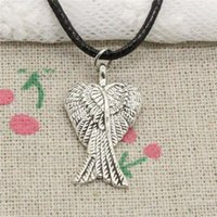 New Fashion Tibetan Silver Pendant angel wings 27*15mm Neckl...