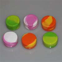 DHL Free Silicone Container Jar Wax Concentrato 22ML 7ML 5ML 2ML sferico Contenitore di cera Silicon Jar per Wax Silicone Jar Dab Nonsolid Colore