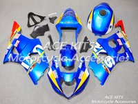 Carénages de moto ACE pour SUZUKI GSX-R1000 K3 2003 2004 Carrosserie bleue n ° 294 de compression