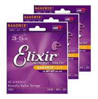Free shippings Elixir Guitar Strings Acoustic 010 011 012 01...