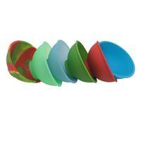 Bols de pincement en caoutchouc de silicone de 100 PCs pour la catégorie comestible de nourriture Bocal de 50 ml et tampons de cire colorés de récipient de silicone pour l'huile et l'herbe