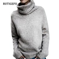 Herbst Winter Rollkragenpullover stricken Bottoming Shirt Frauen lose Pullover 2018 Mode Pullover gestrickt Volltonfarbe Pullover