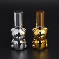 8 ml 8CC Cute Bear spray flaschen Leere Aromat nachfüllbare parfümflasche Ätherisches Öl Rollerflaschen mit Glasrollkugeln