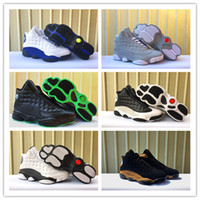Wholesale 13 XIII bred olive blue white black Men Basketball...