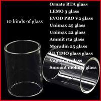 화려한 RTA LEMO 3 EVOD PRO V2.0 Unimax22 Ammit rta Moradin 25 ULTIMO Vaptio p1 Smoant mobula 교체 Pyrex Glass Tube