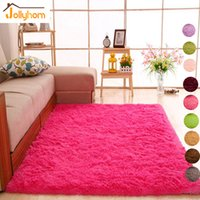 Long Hair Solid Carpet Shaggy Area Rugs Anti- Slip Carpets fo...