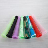 El silicón de la categoría alimenticia del vástago descendente del silicón de 4 pulgadas para el tubo de Bong de cristal coloreado opciones el agua Bongs los tubos