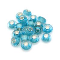 8x14mm Venta al por mayor nueva 100 unids / lote Color de la lámpara de cristal de Murano Beads trabajo Big Hole Silver P Core para el encanto europeo