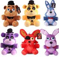 25cm Plüschspielzeug Fünf Nächte bei Freddy FNAF Puppen gefüllte Spielwaren Golden Freddy Fazbear Mangle Foxy Bear Bonnie Chica Plüsch Puppe