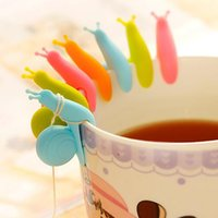 Cute Snail Shape Silicone Tea Bag Holder Cup Mug Candy Color...