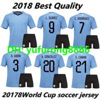 defba0f92 2017 2018 URUGUAY 2018 SUAREZ Soccer Jerseys shorts D.GODIN E.CAVANI  URUGUAY home 18 19 football shirt J.M.Giménez De Arrascaeta