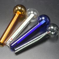 Wholesale Colorful Glass Hand Pipes 103mm Length 30mm Bowl D...