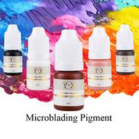 Professionelle Microblading Pigment Tattoo Tinte für Permanent Makeup Augenbrauen / Lip / Eyeliner kosmetische organische Micro Pigment Farbe Tattoo Supplies