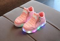 아이 아기 유아 여자 크리스탈 bowknot led 빛나는 부츠 신발 운동화 나비 매듭 다이아몬드 작은 흰색 신발