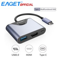 EAGET 3 In 1 USB C HUB to USB 3. 0 Type- C HDMI Splitter Conve...