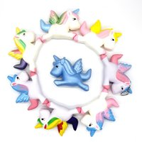 Wholesales 9 Styles Rainbow Unicorn Jumbo Slow Rising Squish...