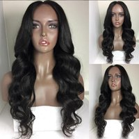 Hair Peruvian Body Wave 100% Human Full Lace Wigs With 150% ...