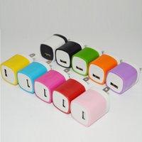 Colorful Finger print US Plug 1A USB Power Wall Home Travel ...