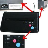 prix le plus bas A4 Transfert papier noir stencil thermique copieur de tatouage copie machine de transfert